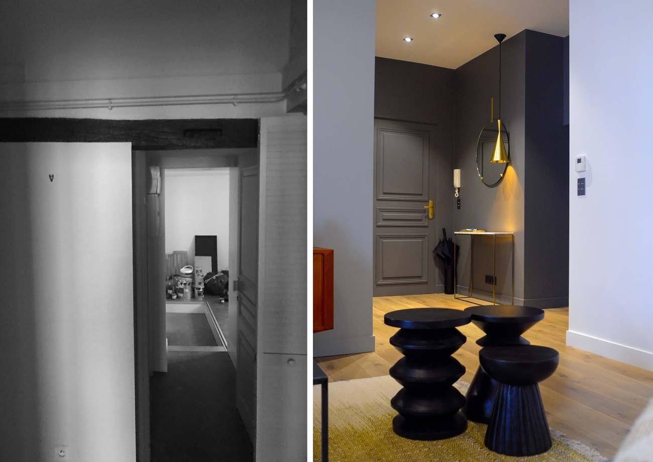 Appartement de 93m2 après les travaux d'aménagement par um architecte d'intérieur diplomé