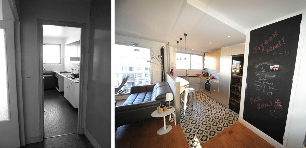 Avant - Après : Amémagement appartement 3 pièces 62m2