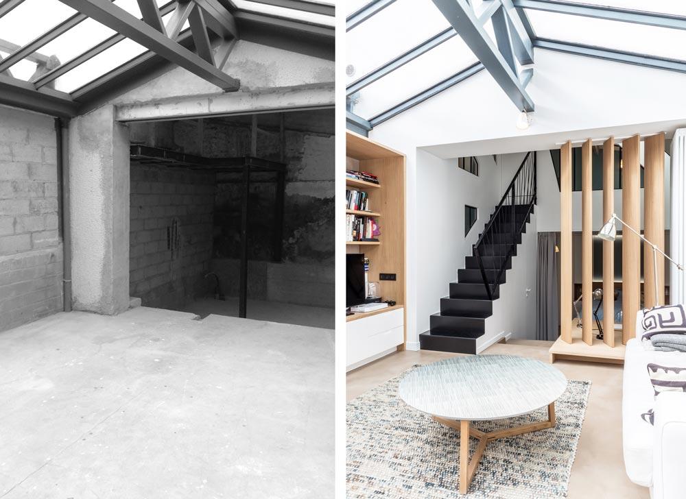 Avant - Après : aménagement d'un loft par un architecte d'intérieur