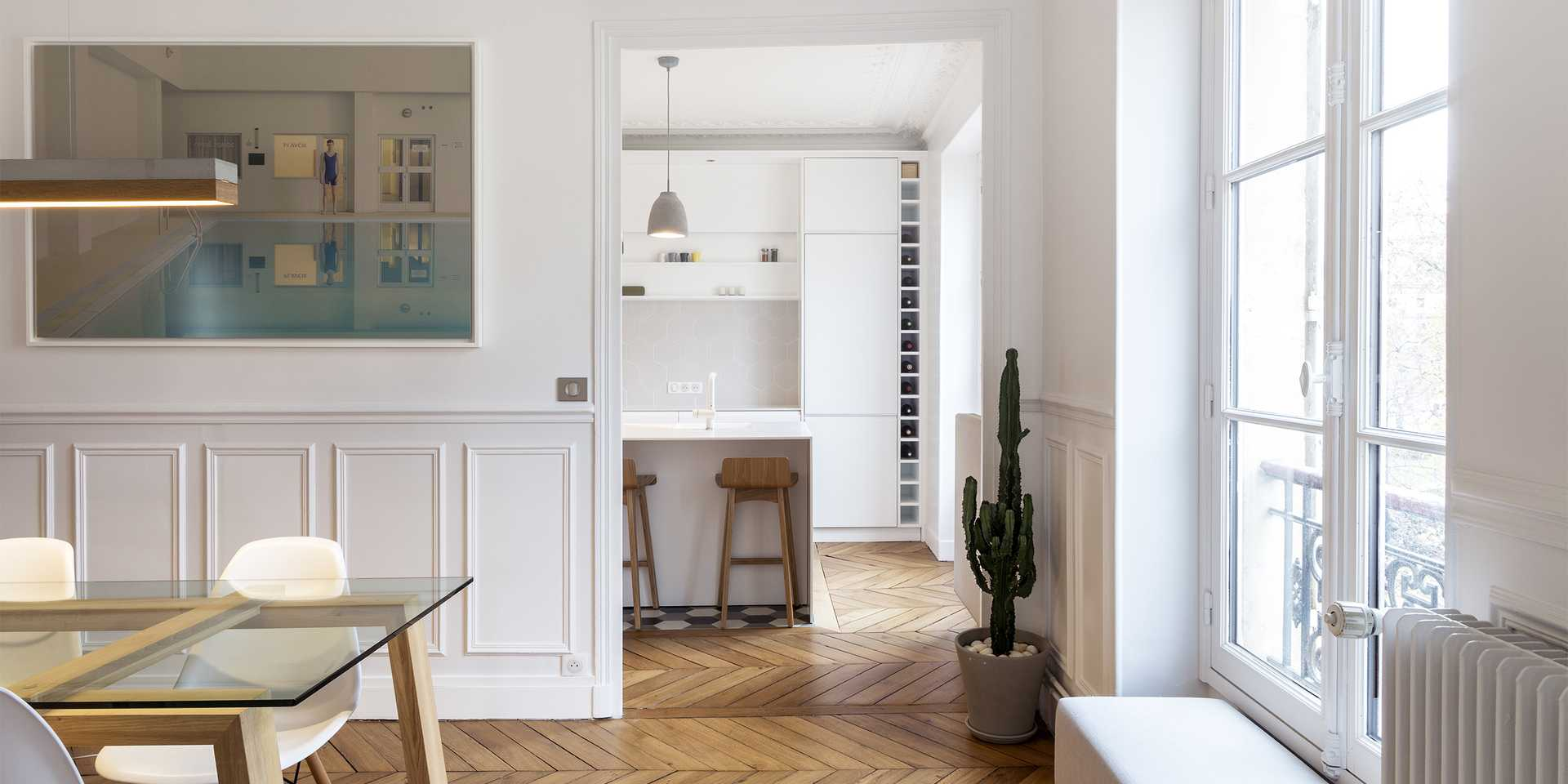 Haussmannian apartment redesigned by an architect in Lille